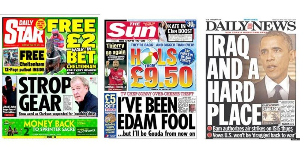 The 60 Greatest Newspaper Headline Puns Shortlist